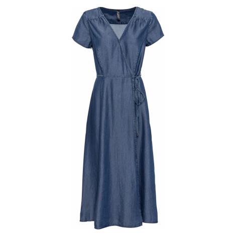 Džínsové šaty, zavinovacie bonprix