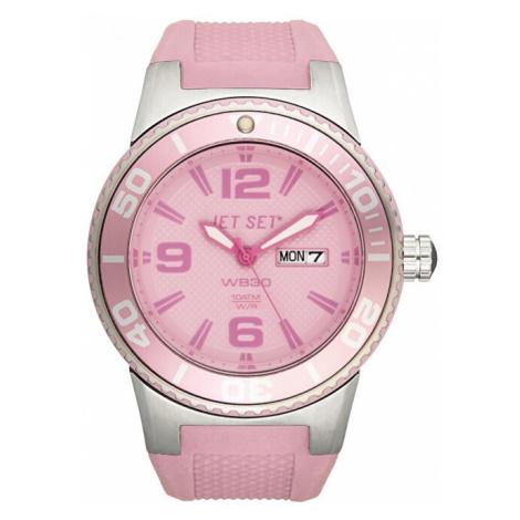 Jet Set Analogové hodinky WB30 J55454-04 s vodotěsností ATM