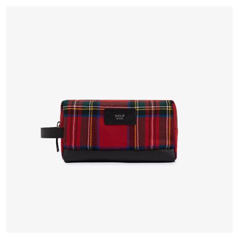 Červená tartanová kozmetická taška Scotland WOUF