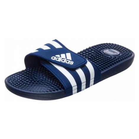 ADIDAS PERFORMANCE Plážové / kúpacie topánky 'Adissage'  biela / tmavomodrá