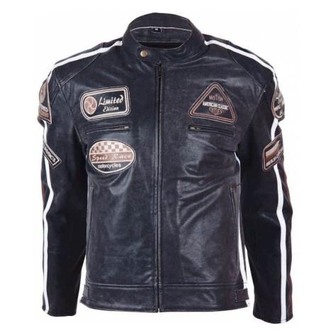 Kožená moto bunda BOS 2058 čierna Farba čierna