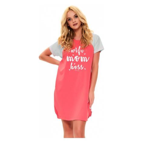 Materská nočná košeľa Love mom malinová