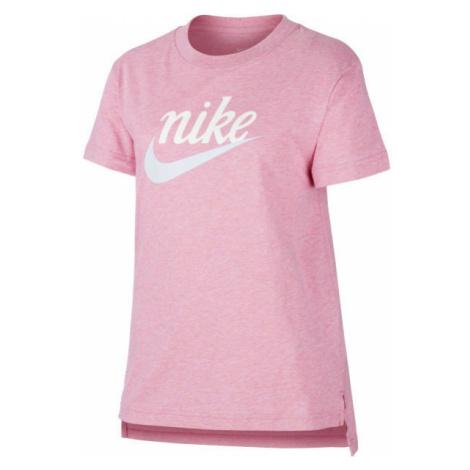 Nike NSW TEE DPTL SCRIPT FUTURA G ružová - Dievčenské tričko
