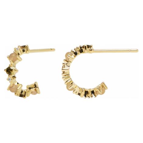 PD PAOLA Pozlátené náušnice zo striebra s trblietavými zirkónmi GLORY Gold AR01-220-U