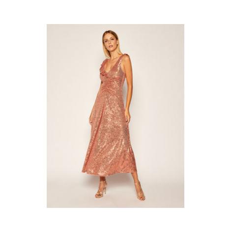 Pinko Večerné šaty Australe 20202 PBK2 1B14N5.7829 Ružová Regular Fit