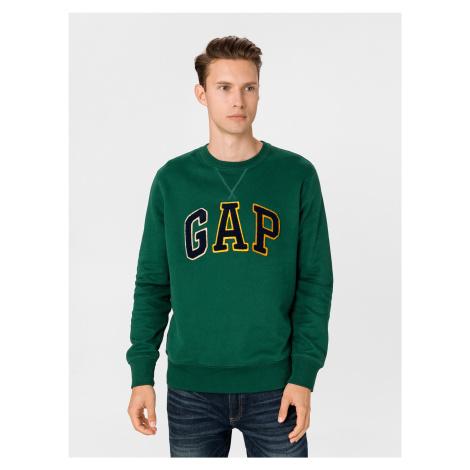GAP zelené pánska mikina