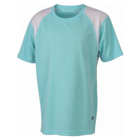 James & Nicholson Detské športové tričko s krátkym rukávom JN397k