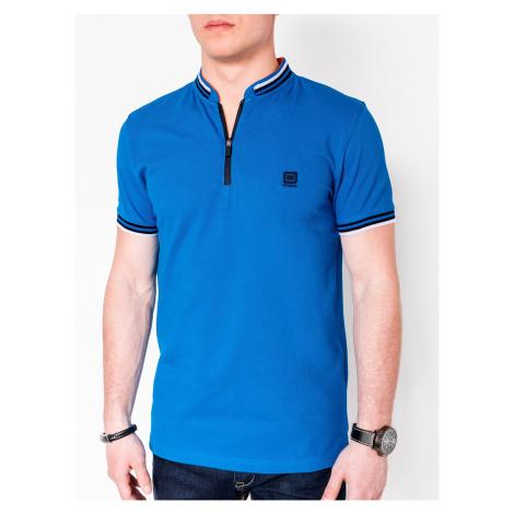 Pánske polo tričko s golierom Brent modré