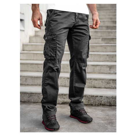 Čierne pánske kapsáčové nohavice s opaskom Bolf CT8906