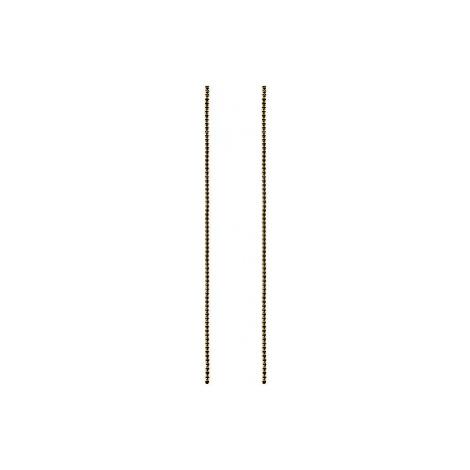 PD PAOLA Dlhé pozlátené náušnice zo striebra s čiernymi zirkónmi Black SASHA Gold AR01-071-U