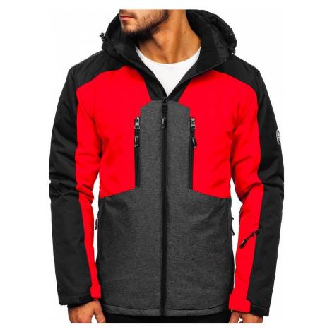 Červená pánska lyžiarská bunda Bolf 1340 JUSTPLAY