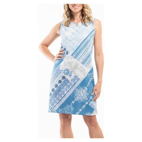 Orientique modo-biele obojstranné šaty Corfu