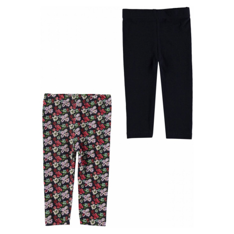 Crafted Essentials 2 Pack Print Leggings Baby Girls Floral Print