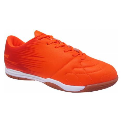 Kensis FLINT IN oranžová - Juniorská halová obuv