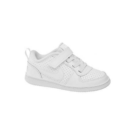 Biele tenisky na suchý zips Nike Court Borough