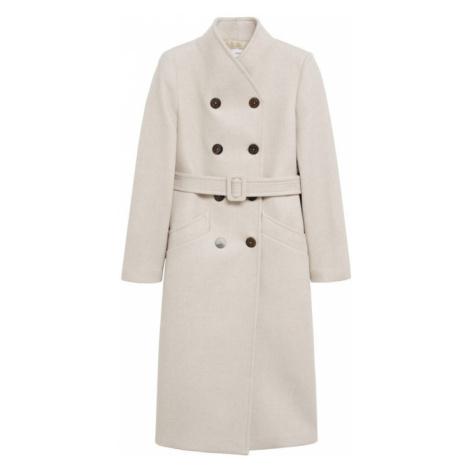 MANGO Prechodný kabát 'Luna'  šedobiela