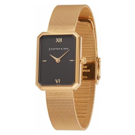 Kapten & Son Analógové hodinky 'Grace Mesh '  zlatá / čierna