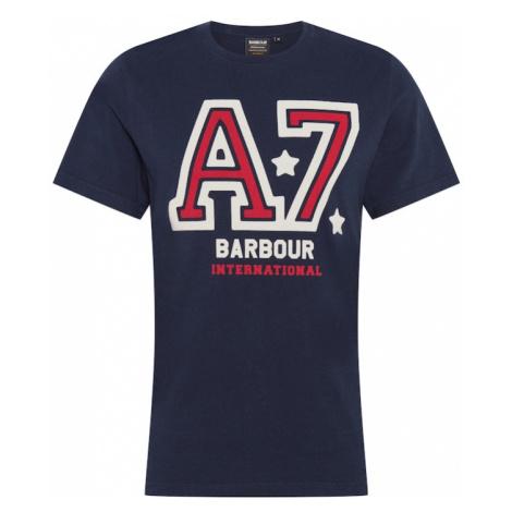 Barbour International Tričko 'Legend A7'  námornícka modrá / biela / červená