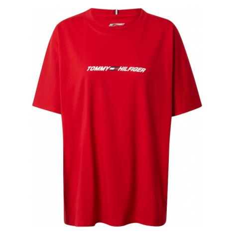 Tommy Sport Funkčné tričko  červená