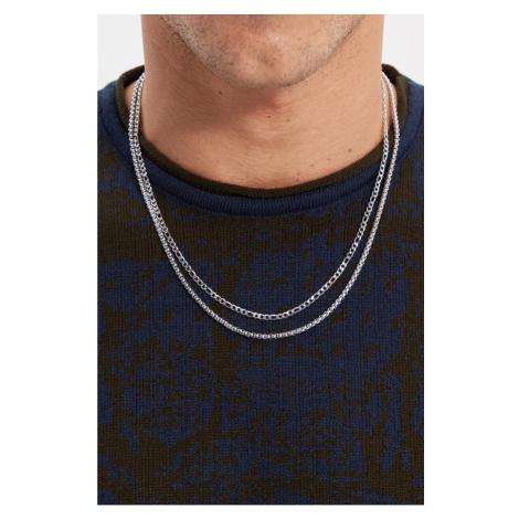 Trendyol Sterling Silver Men's 2-Pack Bijouterie Necklace