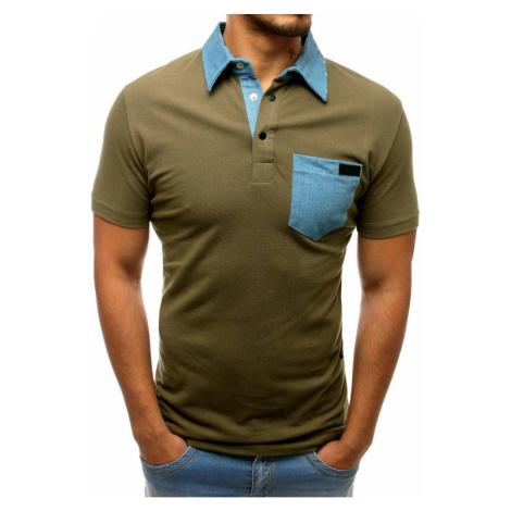 Men's green polo shirt PX0238 DStreet