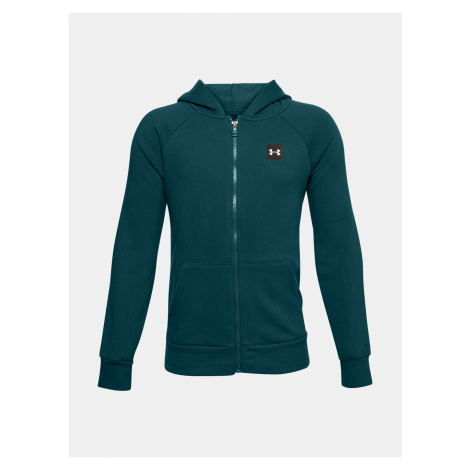 Mikina Under Armour UA RIVAL FLEECE FZ HOODIE-GRN
