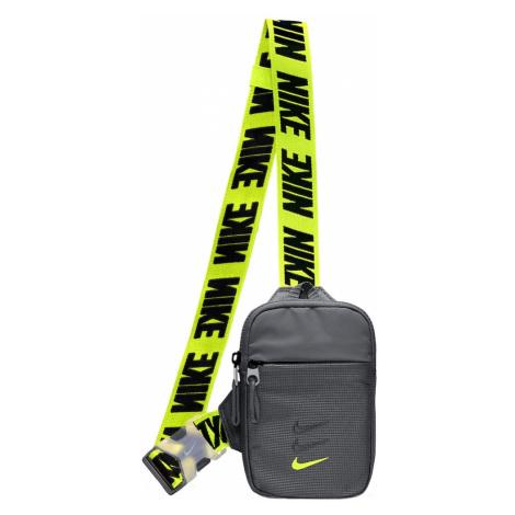 Nike Sportswear Taška cez rameno 'Advance'  sivá / neónovo žltá / čierna