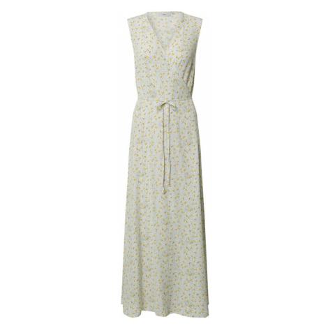 minimum Šaty 'Elica'  biela / tmavožltá / sivá