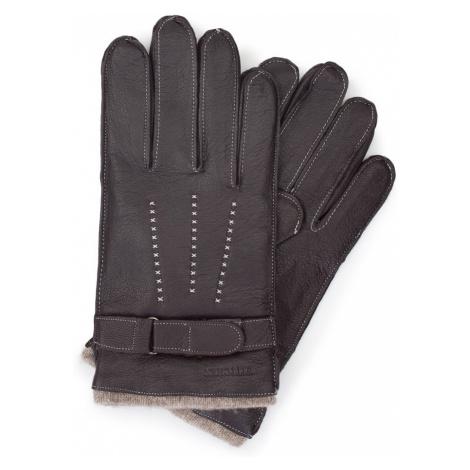 Hnedé zateplené rukavice pre pánov Wittchen