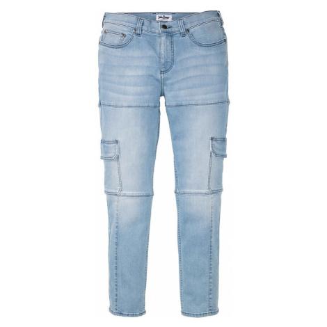 Strečové džínsy, kapsáčové, Slim Fit, rovné