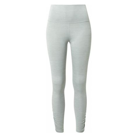 NIKE Športové nohavice 'Nike Yoga'  svetlosivá / sivá