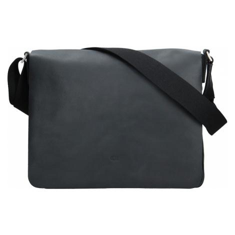 Kožená pánska taška Daag SMASH 75 - čierna