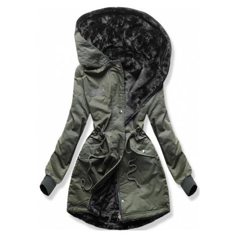 MODOVO Dámska obojstranná zimná bunda khaki