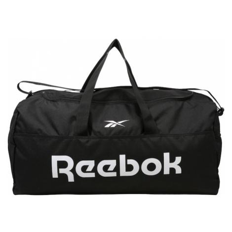 REEBOK Športová taška  biela / čierna