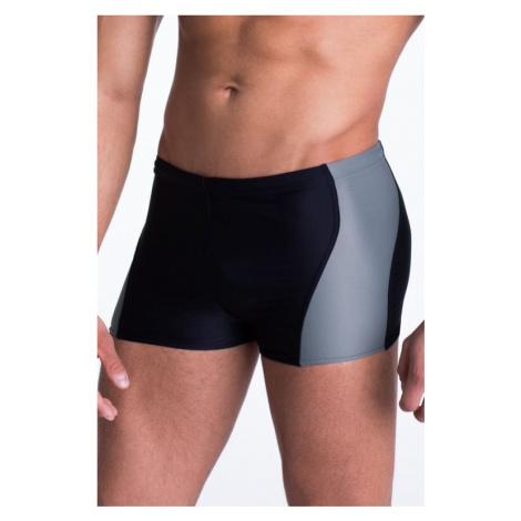 Pánske plavky boxerky Mike so sivým pruhom Primo