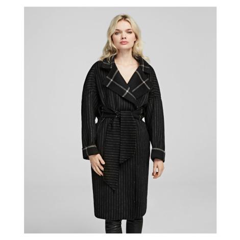 Kabát Karl Lagerfeld Double Face Wrap Coat - Rôznofarebná
