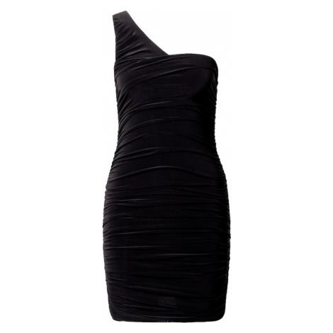 Missguided Kokteilové šaty  čierna