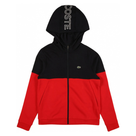 LACOSTE Tepláková bunda  biela / červená / čierna