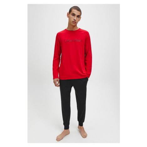 Darčekové balenie Calvin Klein Pyžamový set pánsky - čierna, červená Veľkosť: XL