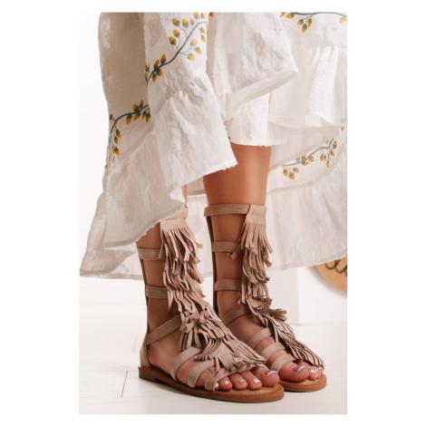 Béžové sandále Hyrelle Bestelle