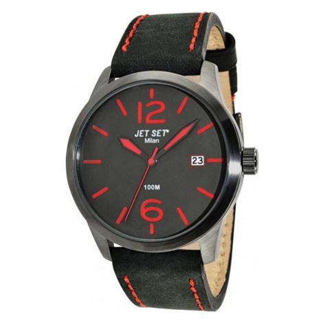 Jet Set Analogové hodinky Milan J6380G-237 s vodotěsností ATM