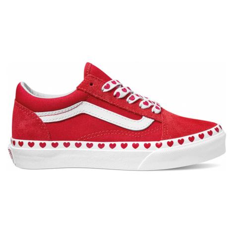 VANS Tenisky 'Old Skool'  červená / biela