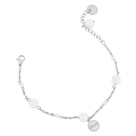 Liu.Jo Oceľový náramok s perličkami LJ1501