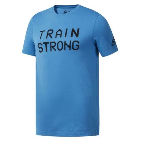 Reebok GS TRAIN STRONG TEE modrá - Pánske tričko