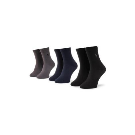 Polo Ralph Lauren Súprava 3 párov vysokých pánskych ponožiek 443803235001 Tmavomodrá