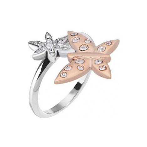 Morellato Oceľový bicolor prsteň s motýlikom Natura SAHL06 mm