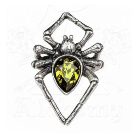 prsteň ALCHEMY GOTHIC - Emerald Venom - R222