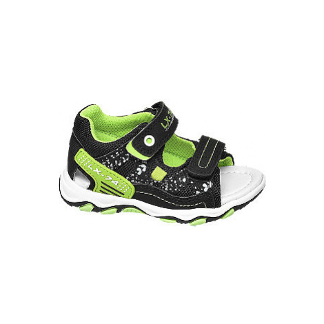 Zeleno-čierne sandále na suchý zips Bobbi Shoes Bobbi-Shoes