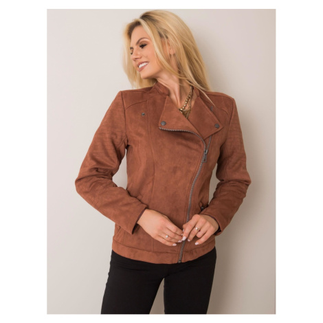 STITCH & SOUL Brown eco suede jacket