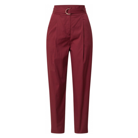 BRAX Plisované nohavice 'Style Milla'  vínovo červená